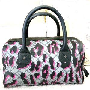 L.A.M.B.Graffiti Leopard Satchel Gwen Stefani Pink